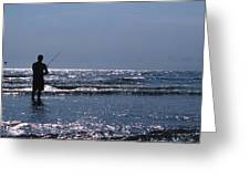 Solitary Angler Greeting Card