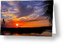Solitary Sunset Greeting Card