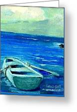 Solo Rowboat Greeting Card
