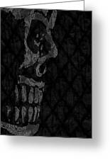 Sombre Skull Greeting Card
