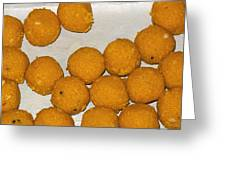 Some Indian Sweets Called A Ladoo In The Shape Of A Sphere Greeting Card