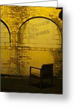 Someplace To Sit In The Alley Greeting Card