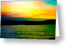 Son Parc Sunset Greeting Card