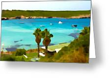 Son Saura Bay And Palms Greeting Card
