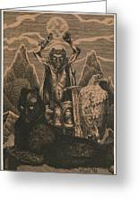 Songs Of The Last Gods Greeting Card by Sirenko