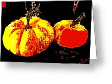 Sonic Pumpkins Greeting Card