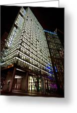 Sony Center At Night Greeting Card