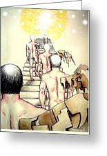 Souls Who Populate The Path Of Light Greeting Card