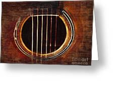 Sound Hole  Greeting Card