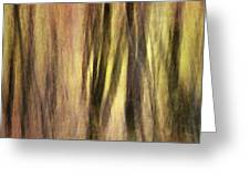 Sourwoods In Autumn Abstract Greeting Card
