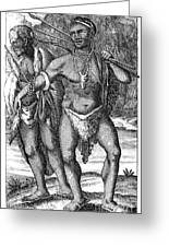 South Africa: Hottetot Man Greeting Card