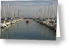 South Beach Harbor Greeting Card