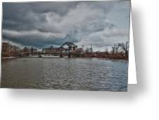 South Buffalo Rail Bridge Greeting Card