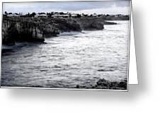 Menorca South Coast In A Stormy Mediterranean Day Greeting Card