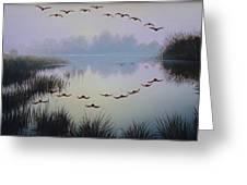 South Lake At Dawn Greeting Card