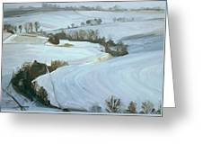 South Limburg Covered With Snow Greeting Card