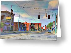 South Main Street Memphis Greeting Card
