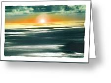 South Pacific Sunset Greeting Card