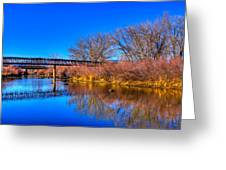 South Platte Bridge Reflected Greeting Card