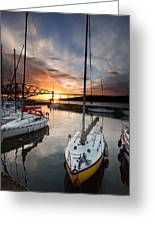 South Queensferry Harbour Greeting Card