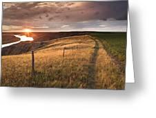 South Saskatchewan River Near Leader Greeting Card