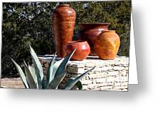 South Western Pottery And Cactus Greeting Card