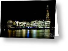 Southbank London At Night Greeting Card