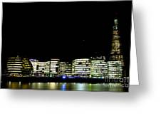Southbank View Across The River Thames Greeting Card