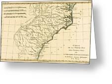 Southeast Coast Of America Greeting Card