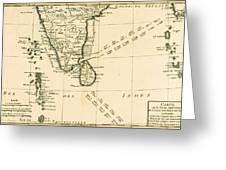 Southern India And Ceylon Greeting Card