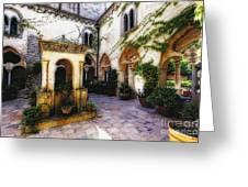 Southern Italy Villa Courtyard  Greeting Card