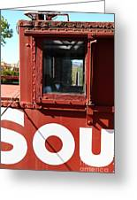 Southern Pacific Caboose - 5d19235 Greeting Card