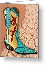Southwest Snakeskin Boots Greeting Card