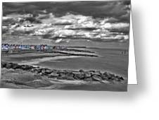 Southwold Beach Huts Greeting Card