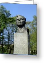 Soviet Monument To Yuri Gagarin Greeting Card by Detlev Van Ravenswaay