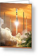 Soyuz-2 Rocket Launch, Artwork Greeting Card