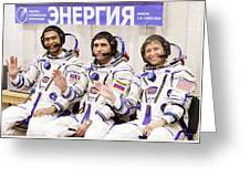 Soyuz Tma-11 Space Crew Greeting Card