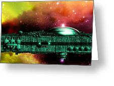 Space Ark Greeting Card by Victor Habbick Visions