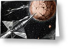 Space Exploration Science-fiction Artwork Greeting Card