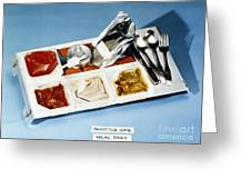 Space: Food Tray, 1982 Greeting Card