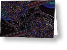 Space Glass Greeting Card