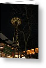 Space Needle Entertainment Greeting Card