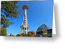 Space Needle In Seattle Washington  Greeting Card