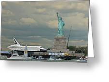 Space Shuttle Enterprise 1 Greeting Card by Tom Callan