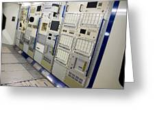 Space Station Equipment Racks Greeting Card