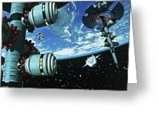 Space Stations Greeting Card