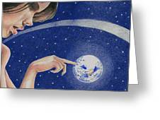 Space Touch Greeting Card