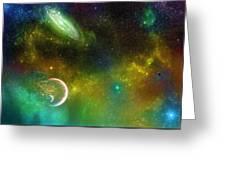 Space001 Greeting Card by Svetlana Sewell