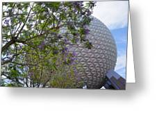 Spaceship Earth  Epcot Center Greeting Card