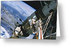 Spacewalk Greeting Card